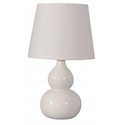 Lampe céramique ivoire