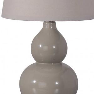Lampe de chevet céramique grise