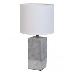 Lampe béton abat-jour blanc