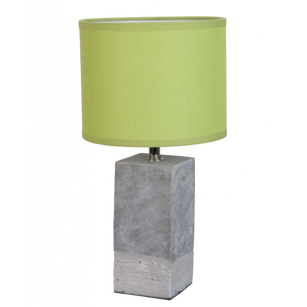 lampe b ton et abat jour vert absinthe luminaire moderne. Black Bedroom Furniture Sets. Home Design Ideas