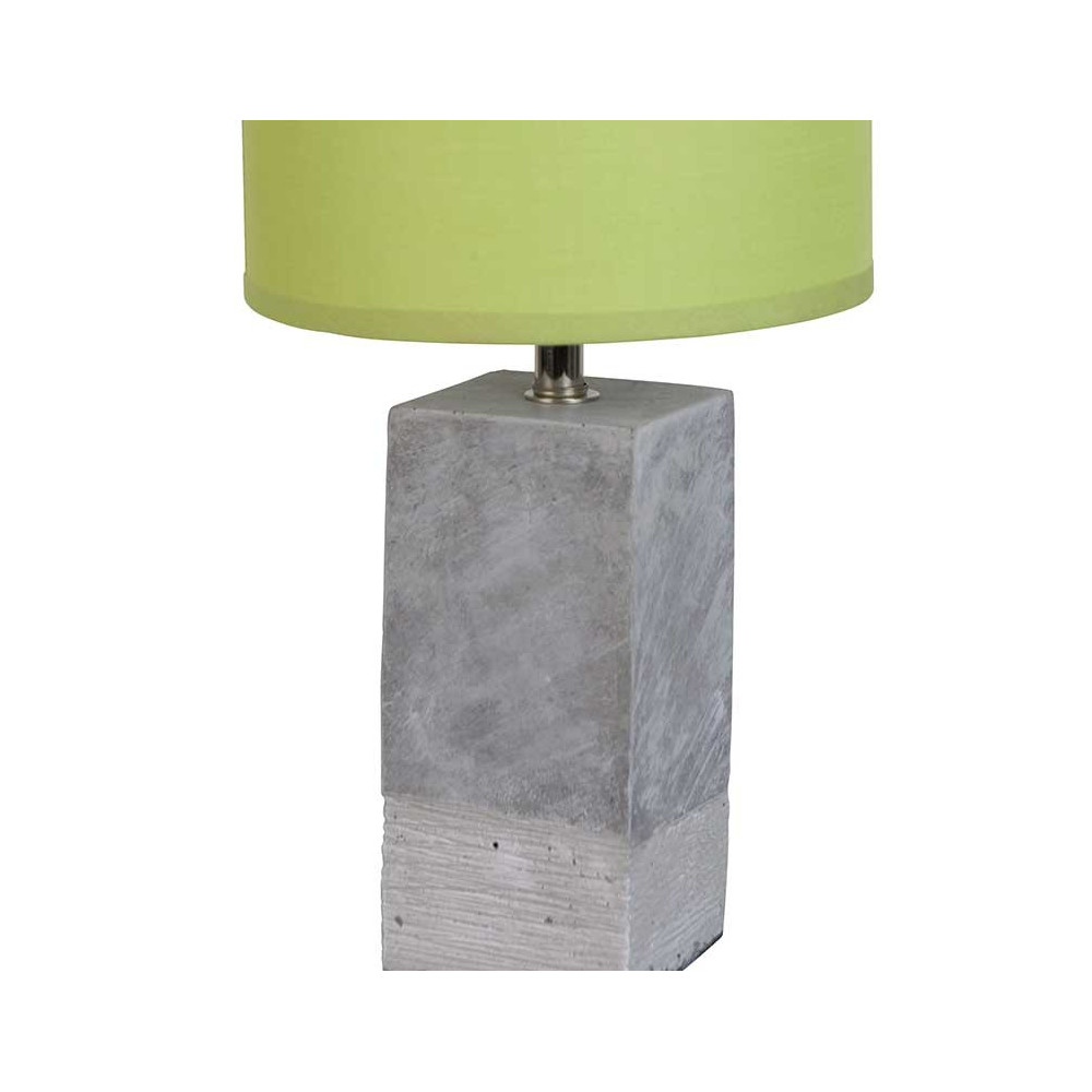 Lampe b ton et abat jour vert absinthe luminaire moderne for Lampe a poser contemporaine