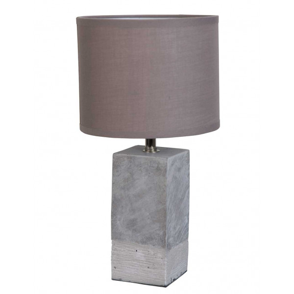 lampe en b ton abat jour gris luminaire design. Black Bedroom Furniture Sets. Home Design Ideas