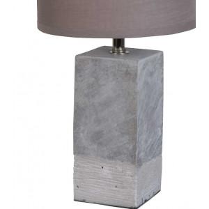 Lampe béton abat-jour gris
