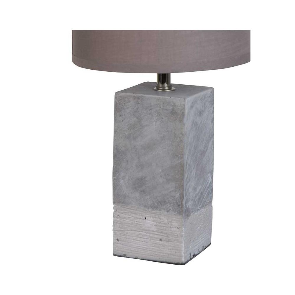 Lampe en b ton abat jour gris luminaire design for Abat jour lampe sur pied