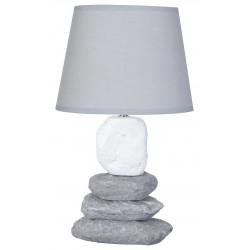 Lampe galet marine grise et blanche