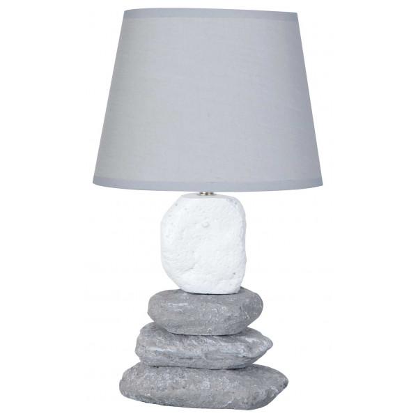 lampe grise avec empilement de galets en vente sur lampe avenue. Black Bedroom Furniture Sets. Home Design Ideas