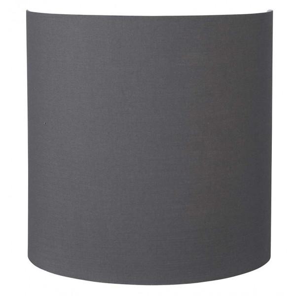 Applique abat-jour gris ardoise