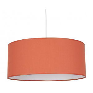 Suspension orange abat-jour