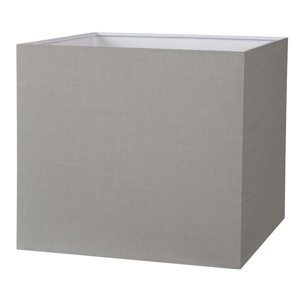 acheter votre abat jour carr couleur gris ciment sur. Black Bedroom Furniture Sets. Home Design Ideas