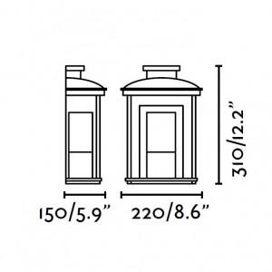 Applique extérieur élégante dimensions