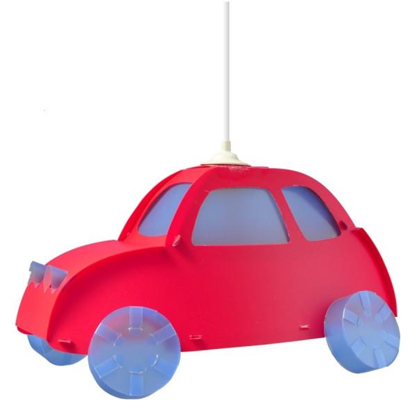 Suspension voiture rouge