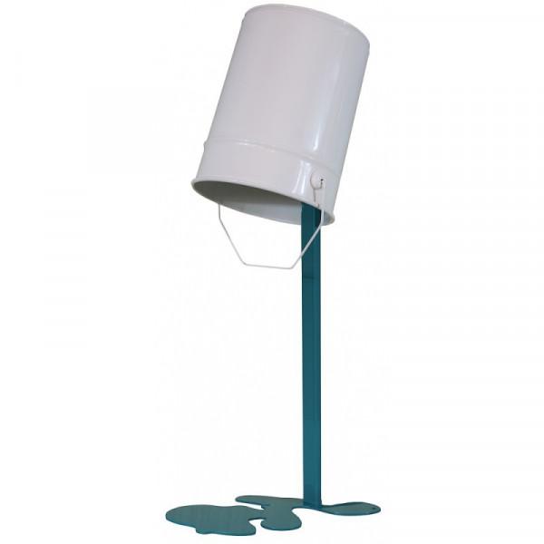 Lampe de table Oups - blanc et bleu