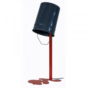 Lampe de table Oups - gris et rouge