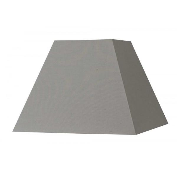abat jour carr pyramide gris ciment en vente sur lampe. Black Bedroom Furniture Sets. Home Design Ideas