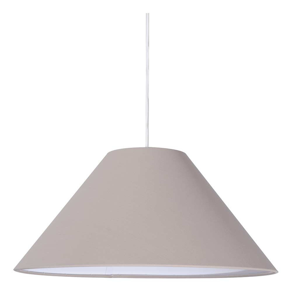 Suspension abat jour conique chanvre luminaire int rieur for Luminaire abat jour suspension