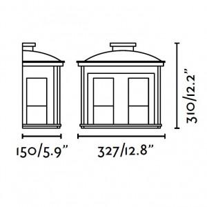 Applique extérieur dimensions