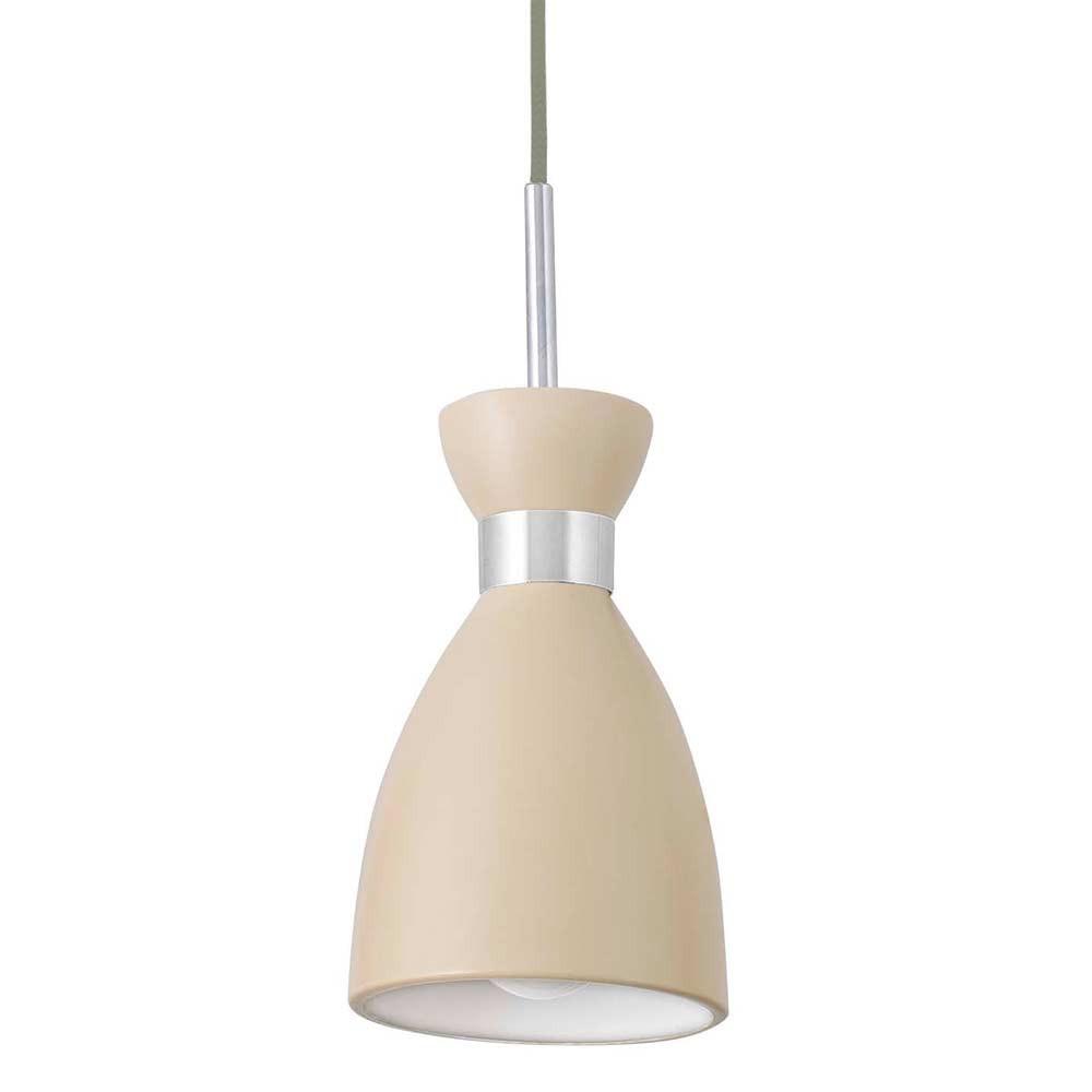 Suspension r tro m tal beige faro lampe avenue for Luminaire exterieur retro