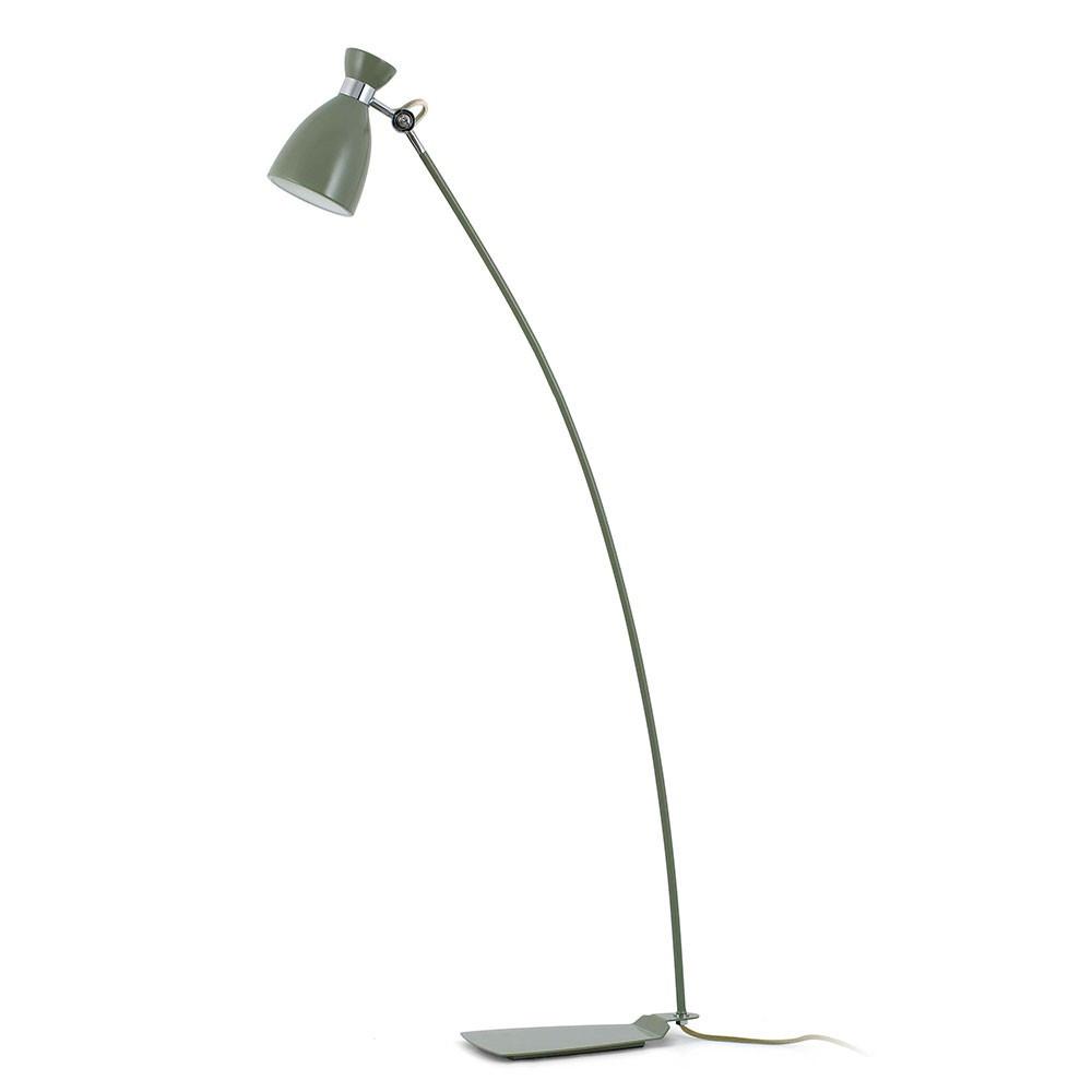 Lampadaire vintage en m tal vert finition mat luminaire for Luminaire exterieur retro