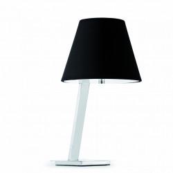 Lampe de table chromée avec un abat jour noir - Faro