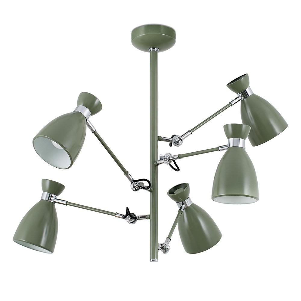Suspension vintage verte avec bras articul s en vente sur lampe avenue - Suspension ampoule vintage ...