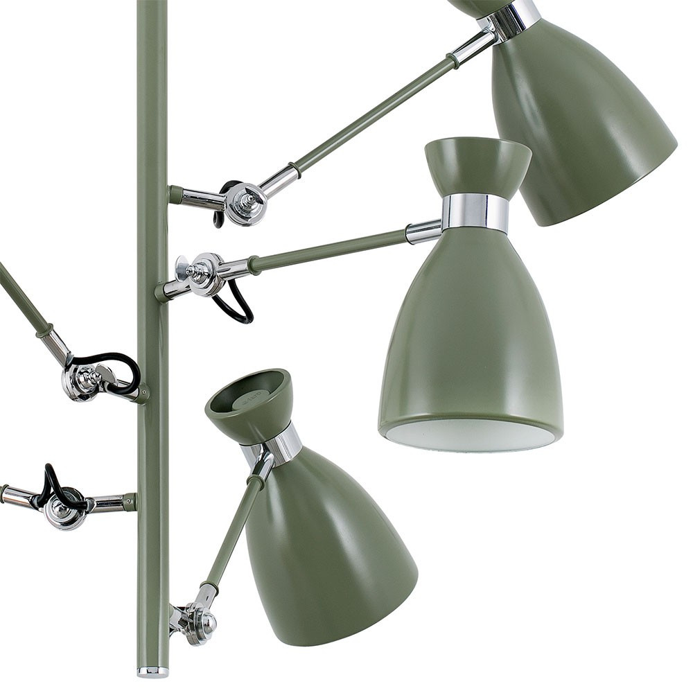 Suspension vintage verte avec bras articul s en vente sur for Suspension led exterieur