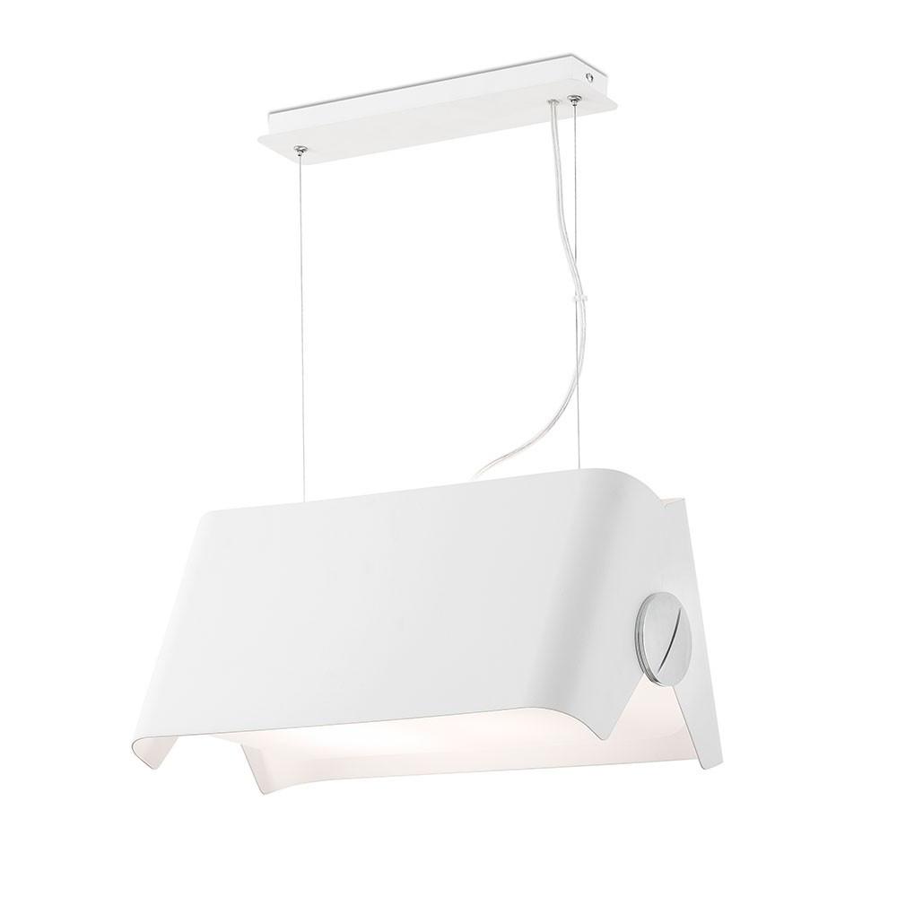 Suspension design blanche métal