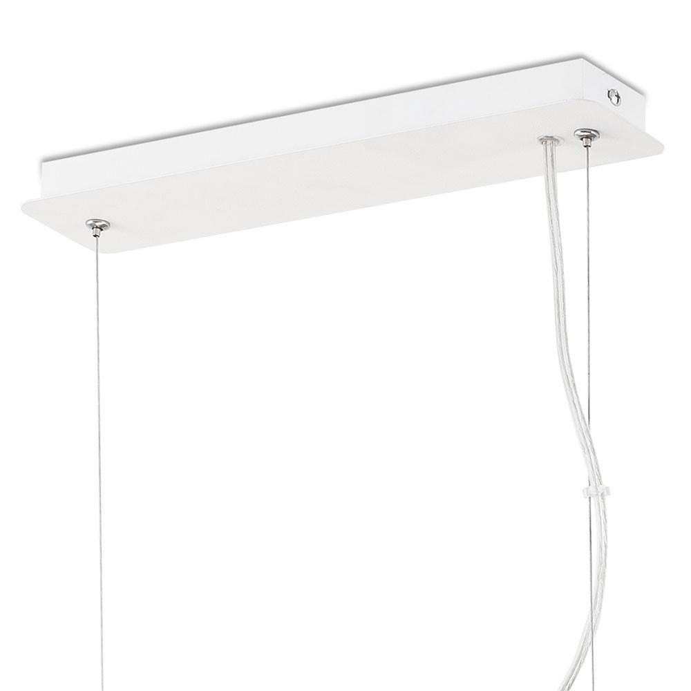 Suspension design blanche rectangle en m tal en vente sur for Suspension blanche design
