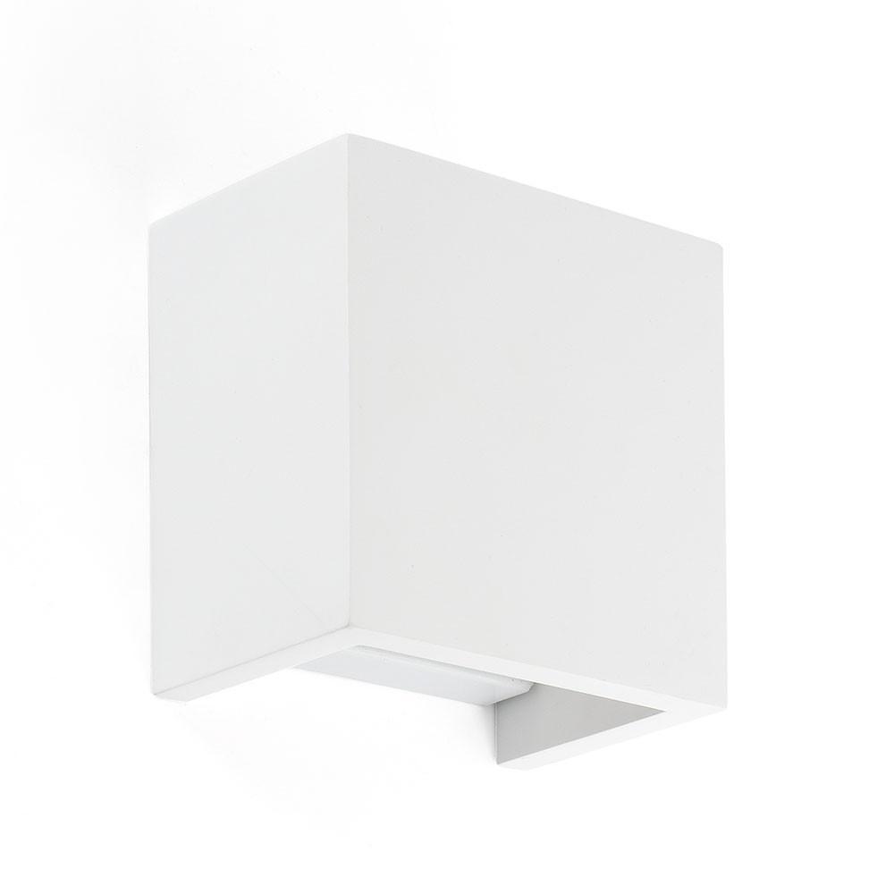 Applique carr e blanche en pl tre simple et d co sur - Applique murale platre ...