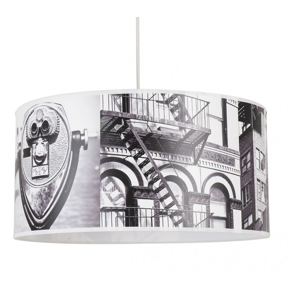 Suspension abat jour new york greenwich en vente sur lampe avenue - Lustre suspension new york ...