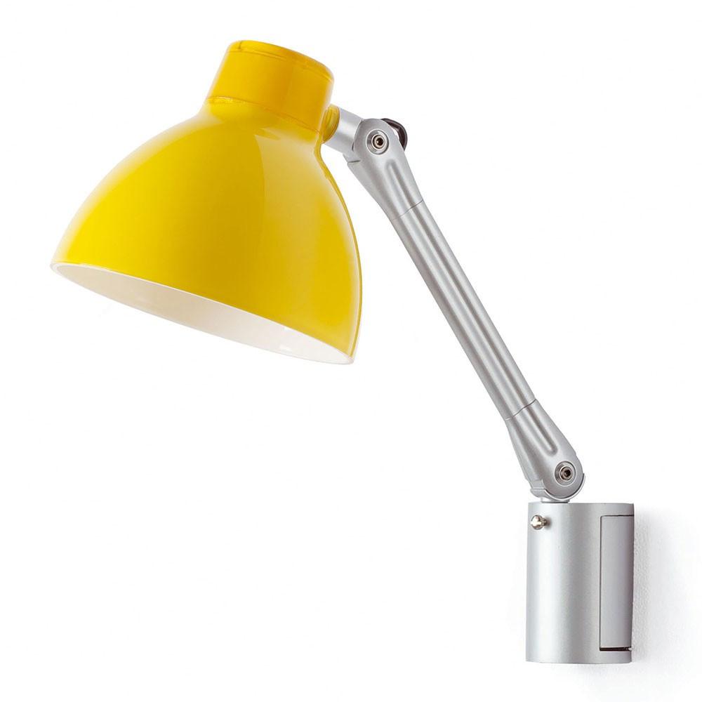 Applique bureau led jaune en m tal a retrouver sur lampe for Lampe de bureau jaune