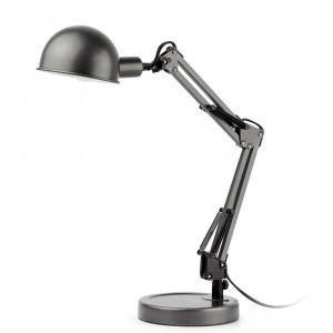 Lampe de bureau grise métal