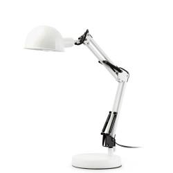 Lampe blanche articulée pour bureau