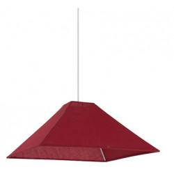 Suspension pyramide carrée rouge