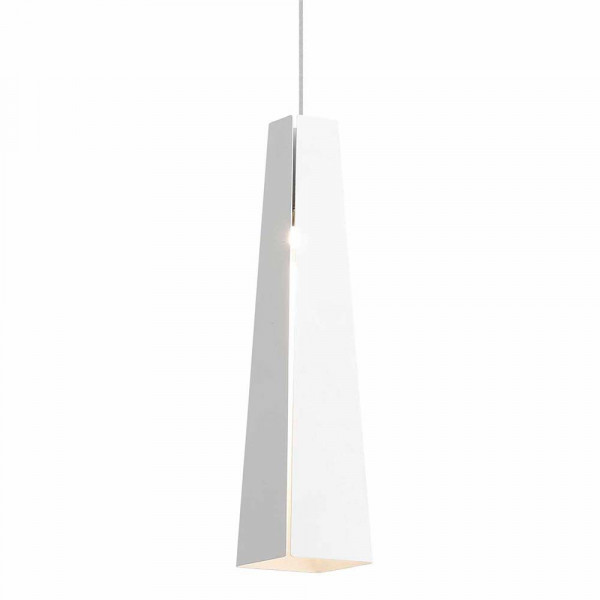 Suspension blanche design moderne en aluminium avec led for Suspension led exterieur