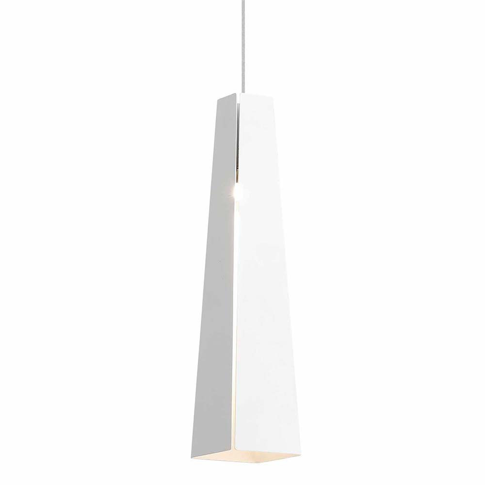 Suspension blanche design moderne en aluminium avec led for Suspension blanche design