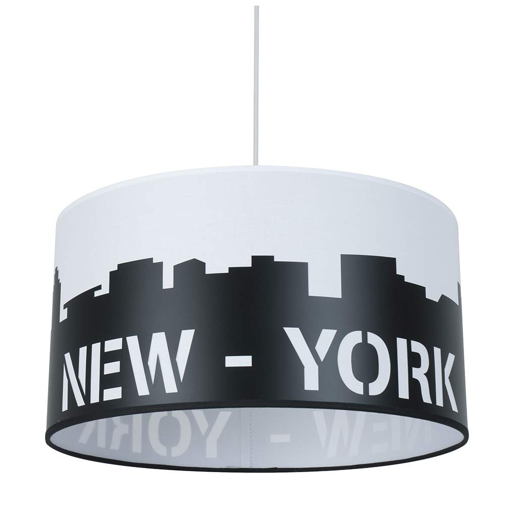 Suspension new york for Luminaire noir suspension