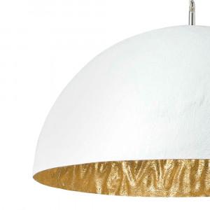 suspension salle à manger blanche et dorée