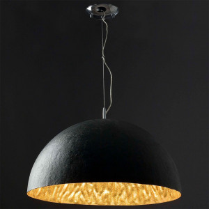 suspension cuisine noire et dorée