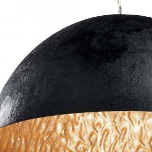 suspension métal noir et dorée