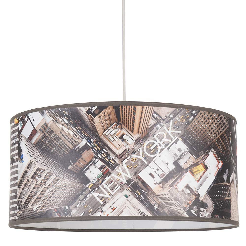 Suspension originale de new york vue du ciel vente sur lampe avenue - Lustre suspension new york ...