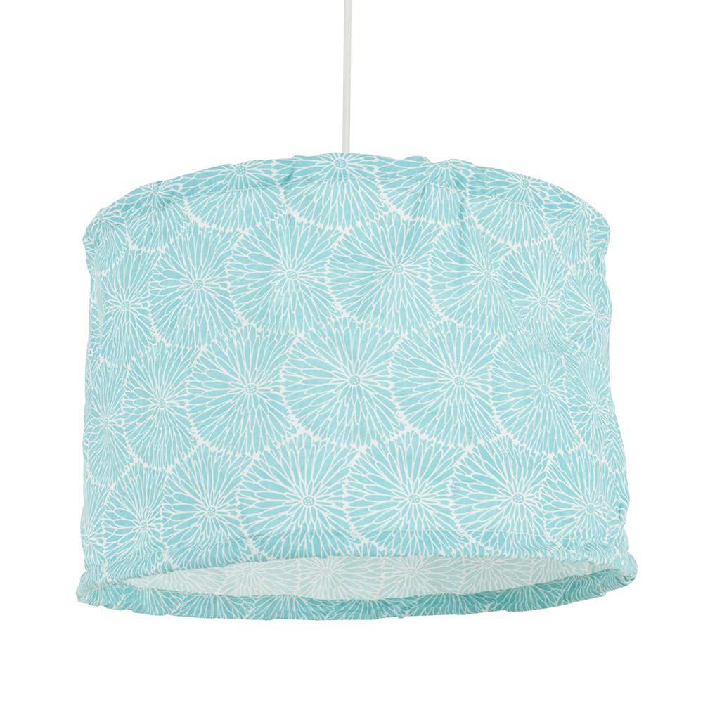 suspension cylindre en coton bleu turquoise achat sur lampe avenue. Black Bedroom Furniture Sets. Home Design Ideas