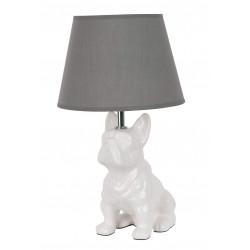 Lampe chien blanc céramique