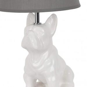Lampe céramique chien