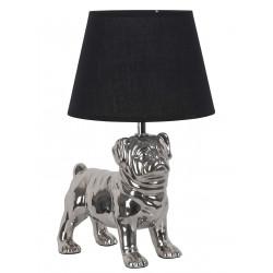 Lampe chien argenté debout