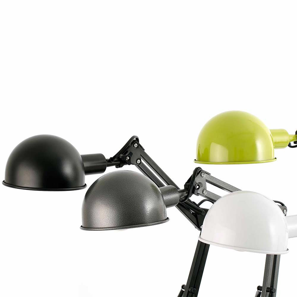 Style loft pour cette lampe de bureau noire articul e - Lampe bureau articulee ...