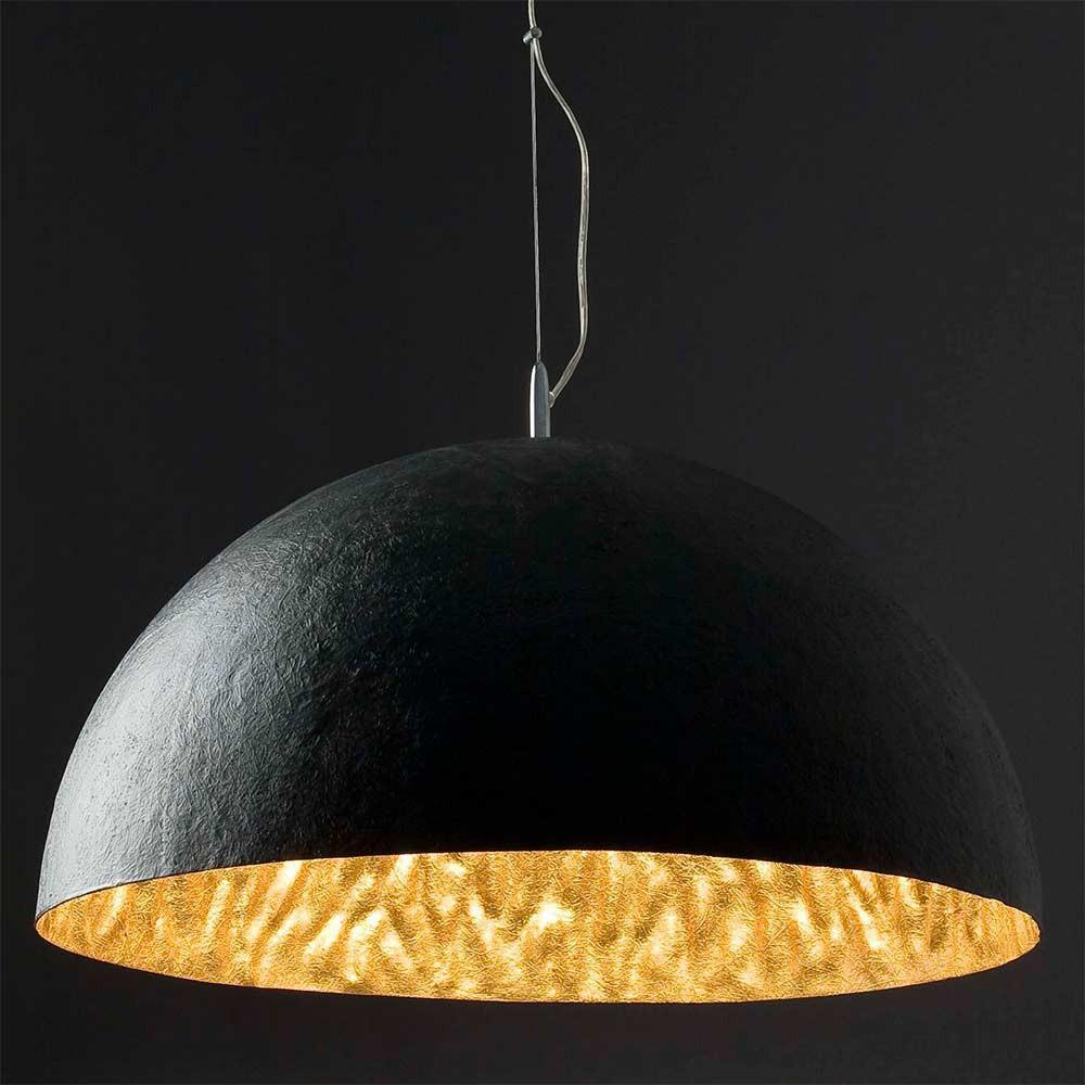 Grande suspension noire et dor e de 70cm lampe avenue - Grande suspension design ...