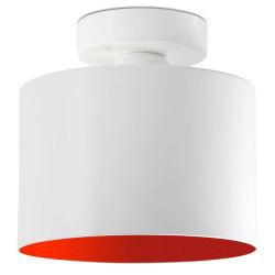 Plafonnier blanc et rouge