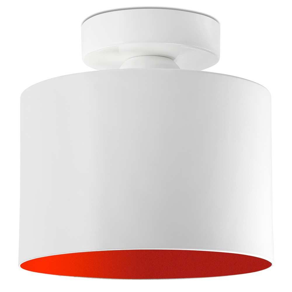plafonnier blanc int rieur rouge en m tal sur lampe avenue. Black Bedroom Furniture Sets. Home Design Ideas