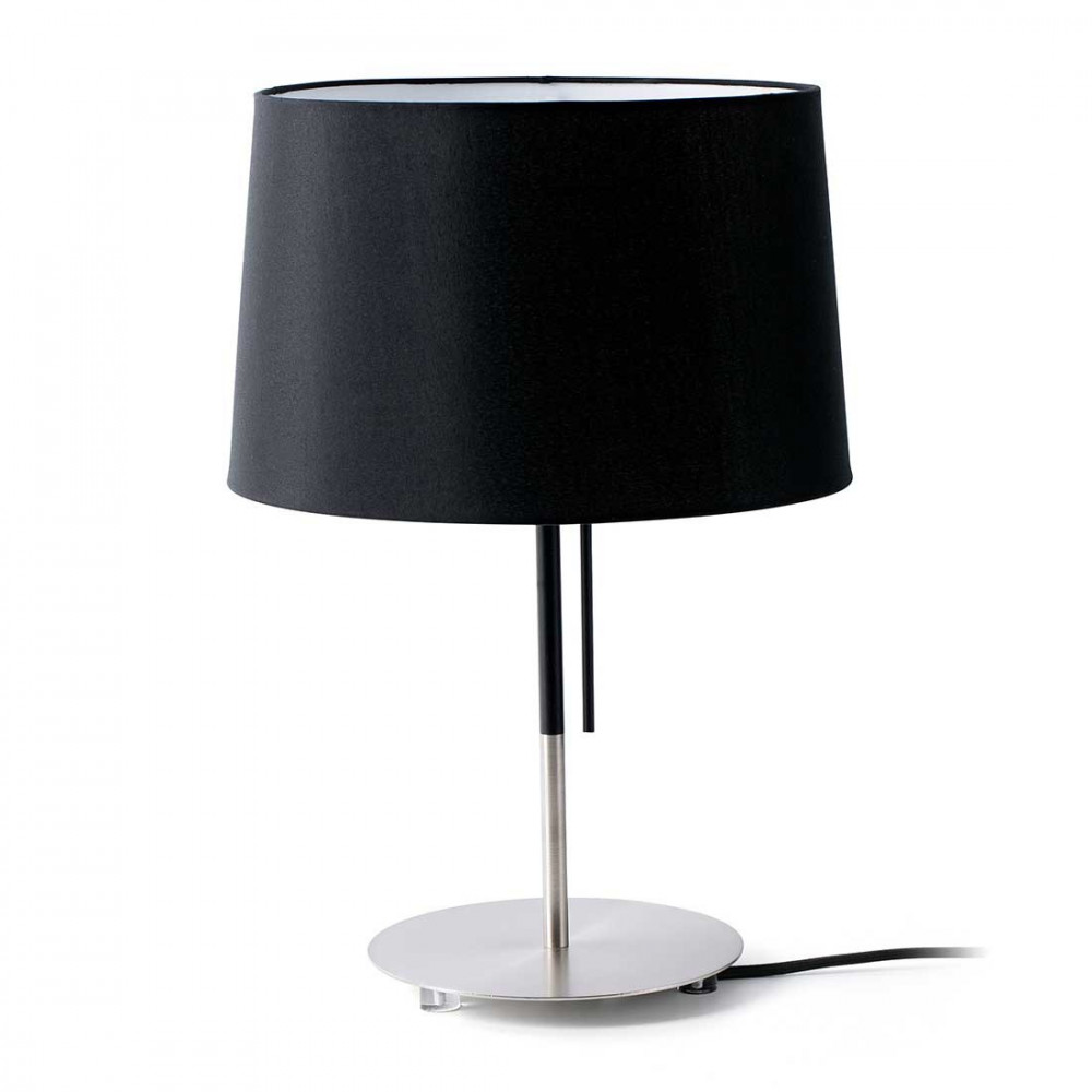 lampe de salon abat jour noir sign e faro en vente sur lampe avenue. Black Bedroom Furniture Sets. Home Design Ideas