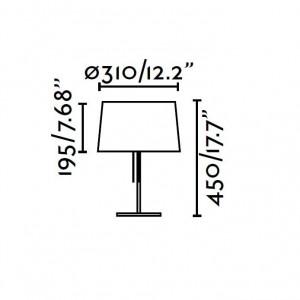 Lampe à poser dimensions
